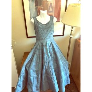 Vintage 40s handmade blue dress 👗
